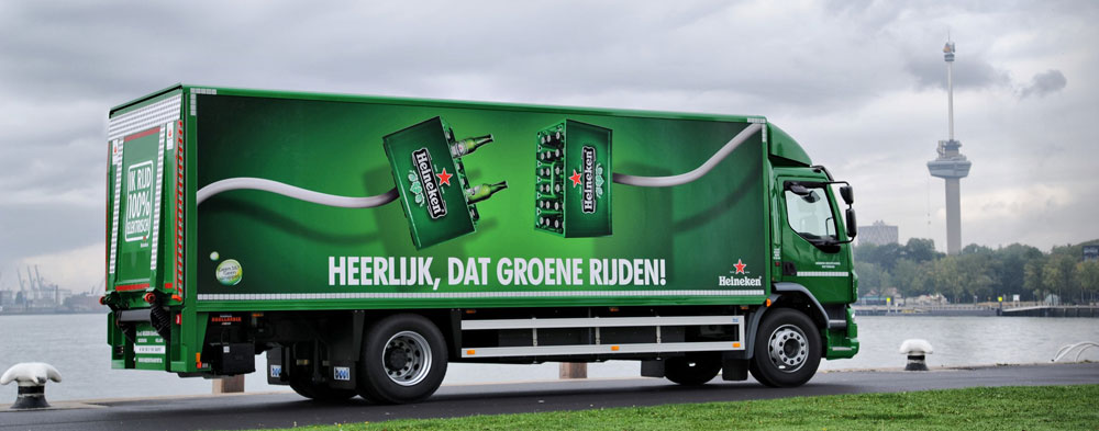 Emoss Heineken truck - Rear View