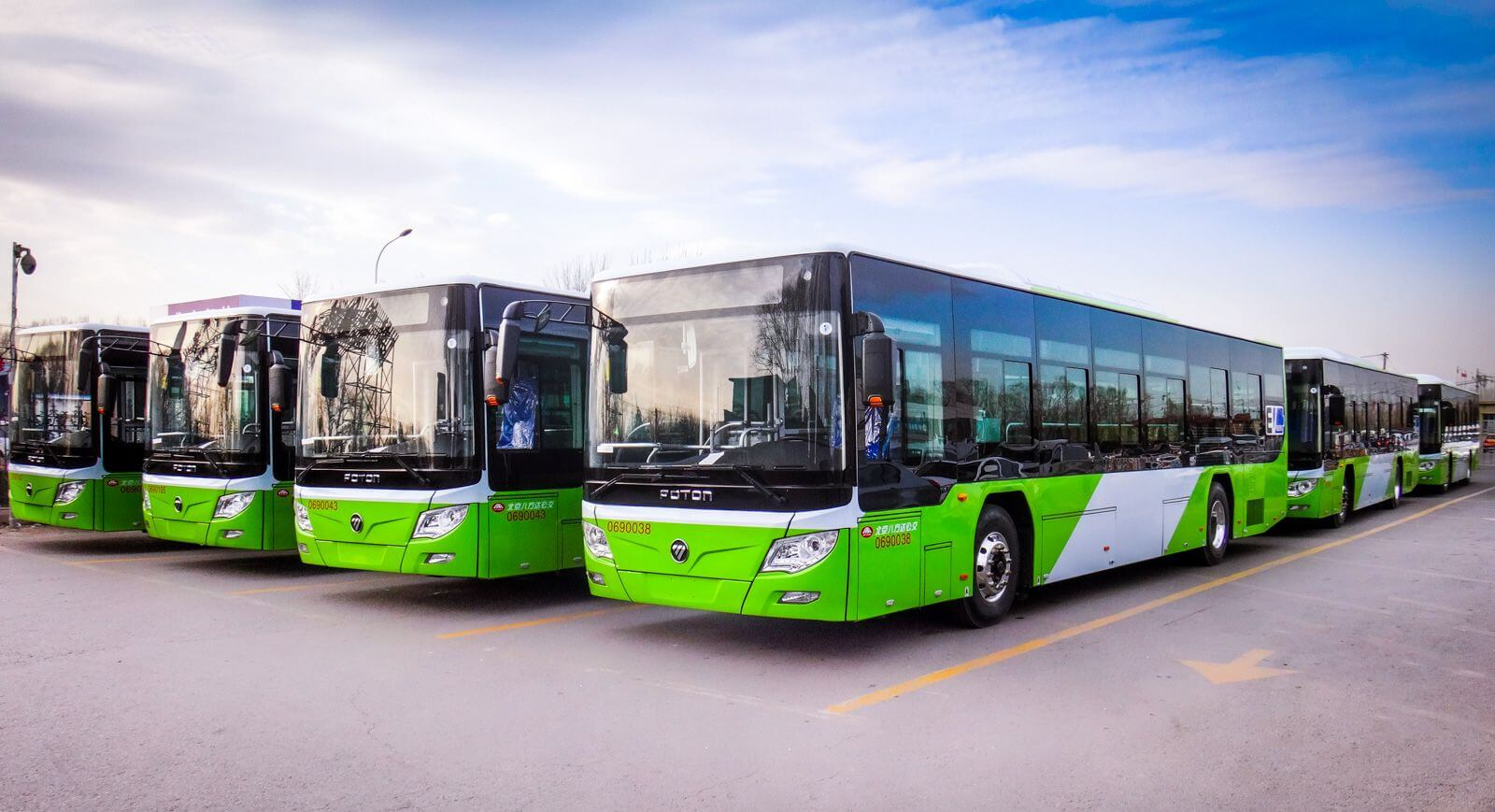 foton buses equiped with TM4 SUMO HD system in China