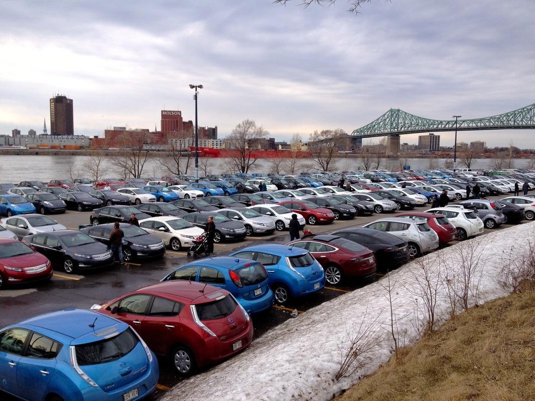 EV gathering Montreal