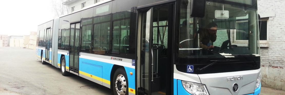 The Foton 18m bus is equipped with Dana TM4's SUMO HD electric motor and inverter.