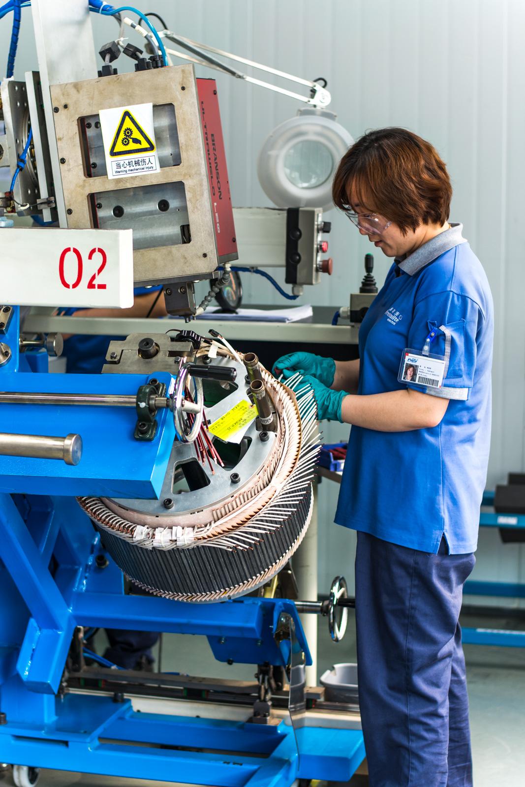 Welding of TM4 SUMO HD electric motor