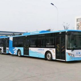 Electric bus in China powered by TM4 electric drive system