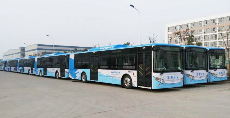 Some of Nanjing King Long electric buses equipped with SUMO electric powertrain systems